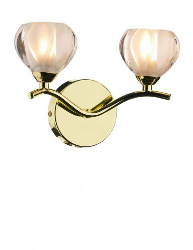 Cynthia 2-light Polished Brass Wall Light (024910) (Class 2 Double Insulated) BXCYN0940-17